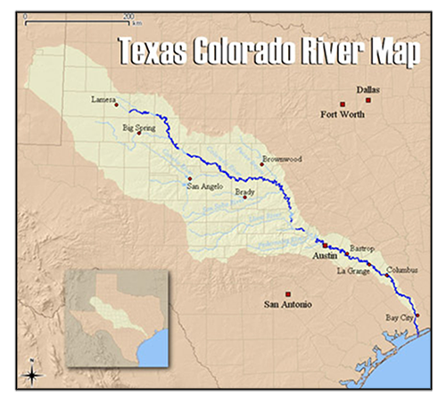 Colorado River Texas Map Texas Rice Production | Colorado River Watershed | LCRA Water
